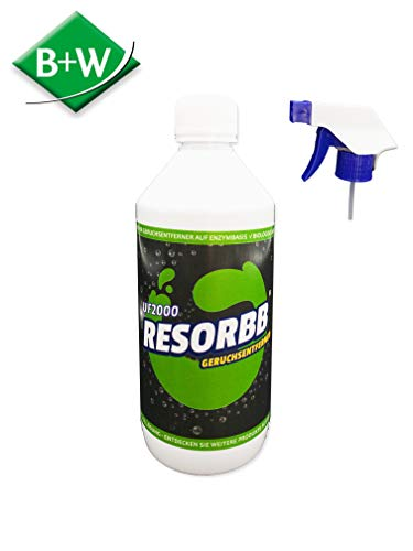 NEUARTIG! ECODOR - 0,5 Liter UF2000 Mensch. Uringeruch Entferner - Spray zur Geruchsneutralisation die bei Menschen entstehen.Rein biologisch, vegan und ohne Tierversuche hergestellt.