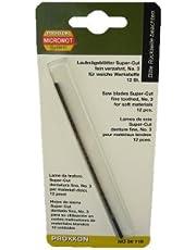 Proxxon 28118 Super-Cut yaprak testere yaprakları, ince dişli, çapraz pimsiz 12 adet