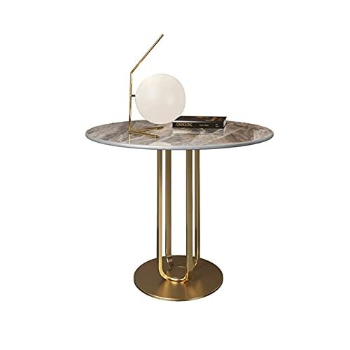 OMYLFQ Tavolino da caffè Tavolino Rotondo, Tavolino Tavolino in Metallo Tavolino in Metallo, Comodino Tavolini per Soggiorno, Tavolino per Piccoli Spazi Tavolo da tè