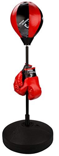 Avento Junior Reflex Standboxtrainer, Black/Red, One Size