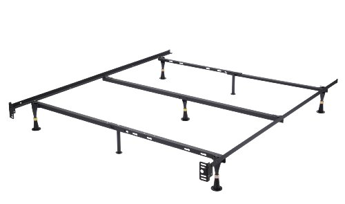 Kings Brand Furniture - 7-Leg Heavy Duty Metal Queen Size Bed Frame with Center...
