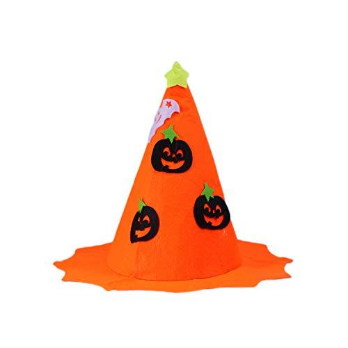 NUOBESTY - Sombrero de bruja para disfraz de calabaza, diseo de calabaza
