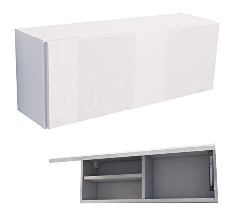 RODRIGO Badschrank weiß 80 x 30 x 25 cm breit Badmöbel Hängeschrank Schrank Hänger Hochglanz 80 (korpus matt weiß + weiß Hochglanz, 80x30x22 (L/H/B))