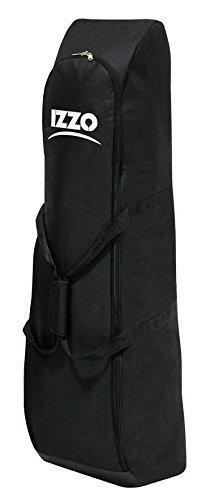Izzo Black Padded Golf Club Flight Bag Travel Cover