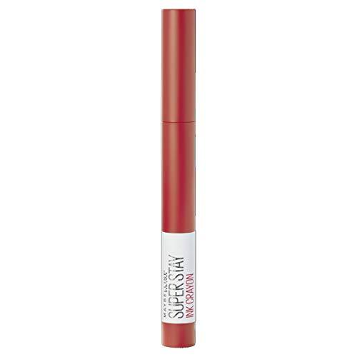 Maybelline Lippenstift, Superstay Matte Ink Crayon Langlebiger orangeroter Lippenstift mit Präzisionsapplikator 40 Laugh Louder