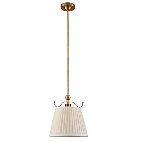 BaiHogi Wandhalterung Lampe, Pendelleuchten Hängen Anhänger Beleuchtung Schlafzimmer Nacht Kronleuchter Kupferfarbe Romantische Bar Restaurant Beige Stofflampen Decken Anhänger Licht Chan