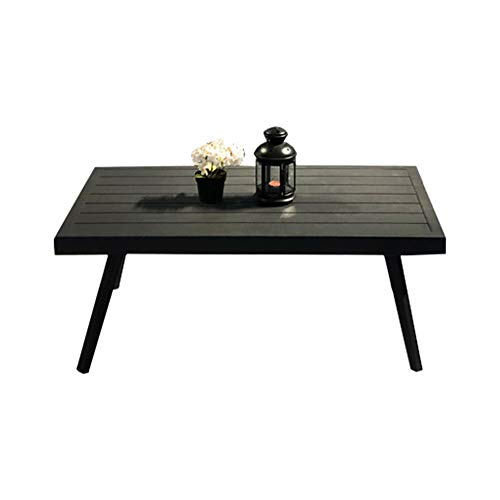 Meubletmoi Tavolino da giardino moderno dal design elegante in alluminio grigio antracite con stantuffi svasati RASA