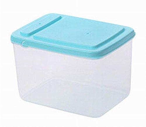 ensemble de 3 bidons cuisine bacs de stockage des céréales alimentaires, bleu