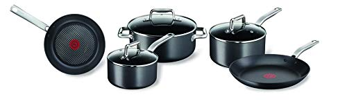 Tefal C556S554 Prograde - Juego de utensilios de cocina (5 piezas, 18/20 salchichas (24+26/30 cm), 5 unidades, aluminio