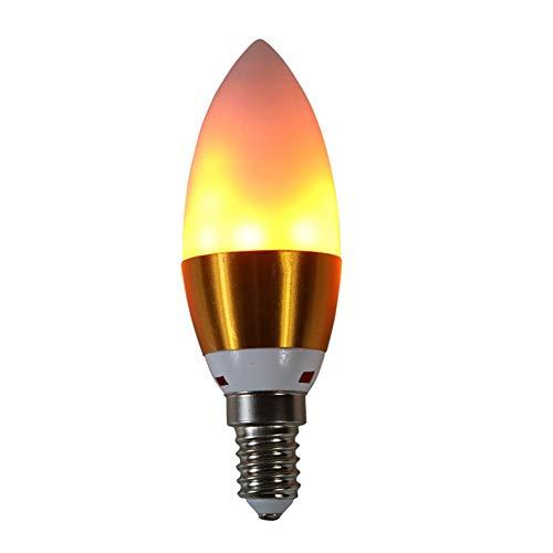 chunnron Feuer Led GlüHbirne Flamme GlüHbirne LED-Schraube Glühbirne Kerze Glühbirnen Schraube E14 Glühbirne Led Candle Glühbirnen Kerze führte Glühbirnen e12,1pack