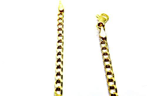 Collana da Donna in Oro Giallo 18kt (750) Catenina Maglia Grumetta Rada Cm 50