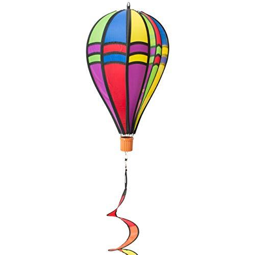 CIM Windspiel - Heißluftballon Twister Retro 23 - wetterbeständig - Ballon:Ø23cm x 37cm, Korb: 4cm x 3.5cm, Spirale: Ø10 cm x 75cm - inklusive Aufhängung