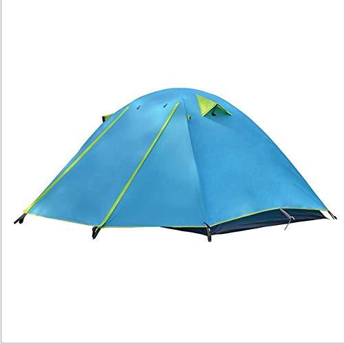 Tienda de la bóveda, ligero portátil de capa doble 3-4 tiendas de campaña Persona impermeable Protección UV adecuados de instalación fácil rápida for acampar al aire libre Escalada Senderismo de picni