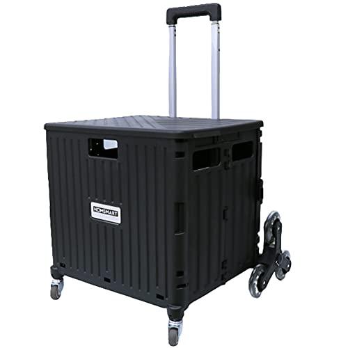 [スーツケースカンパニー]GPT 折りたたみ キャリーカート 大容量 65L 階段 段差 お買い物 キャリー コンテナ フタ付き アウトドア キャンプ コンパクト 台車 ブラック