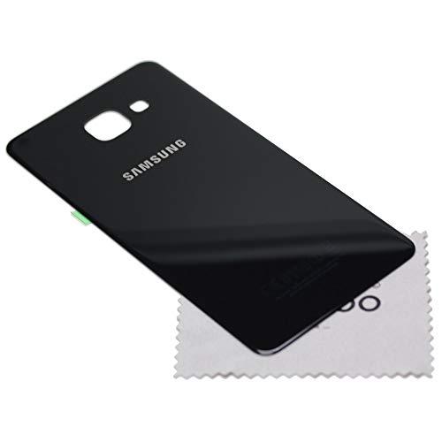 Tapa de batería para Samsung Original para Samsung Galaxy A5 2016 (A510F) Negro con mungoo Pantalla paño de Limpieza