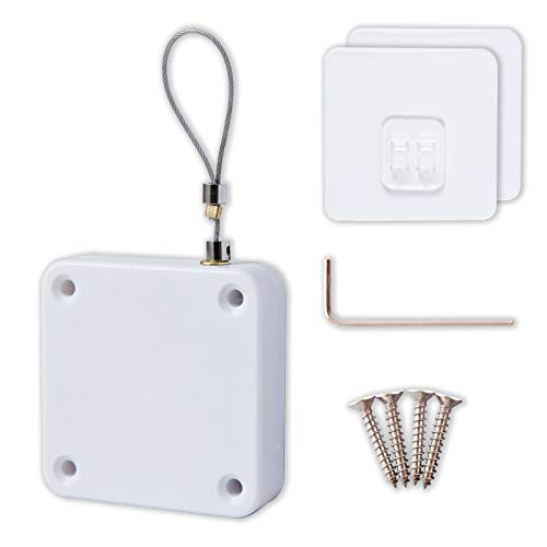 Punch-Free Automatic Sensor Door Closer, Multifunctional Door Closer, Residential Commercial Auto...