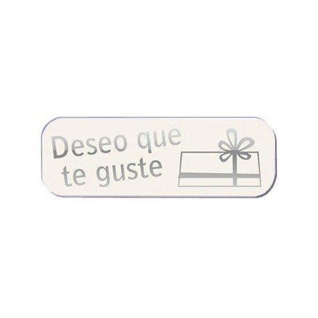 Arguval, s.l. - Rollo 250 etiquetas blancas deseo que te guste