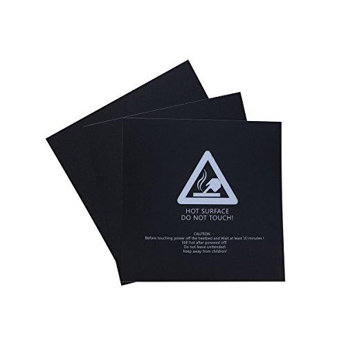 UEETEK Superficie de Impresión 3D 300mm x 300mm (Cuadrado) - 3 Piezas
