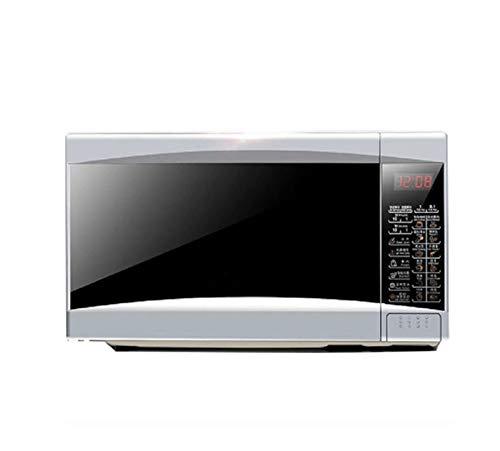 HANYF Küchenmikrowelle, 700 Watt 20 Liter Mikrowelle/Timer/Digitalanzeige/Automatische Abtauung/EIN-Knopf-Garen/Silber