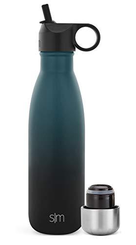 Simple Modern Apex Borraccia Termica Con Cannuccia Riutilizzabile e Coperchio Extra - Borracce Bottiglia Acqua Termiche 350 470 590 710ml, Senza BPA, Acciaio Inox a Tenuta Stagna per Bambini o Adultos