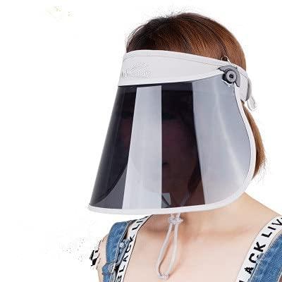Shihuawu Visera de Sol Transparente Ajustable para Mujer Visera de Sol Cubierta Protectora UV Visera de Sol de Verano Flexible Sombrero de sol-gris-mini-G0576