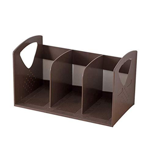 DDLONY Estante para Archivos Porta revistas para Archivos Estante para revistas de cartón, Carpeta para Archivos A4 Caja para estantes - Organizador de papeleo Caja de CD E