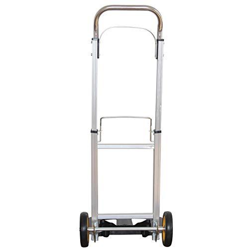 Carrito de la Compra Rolster Plegable de Aleación De Aluminio Ruedas de Marcha Suave con Bandas de Rodadura Blandas y Carga Máxima 100 kg,Plata Carrito de Compra Escaleras para Viajes de Negocios y V