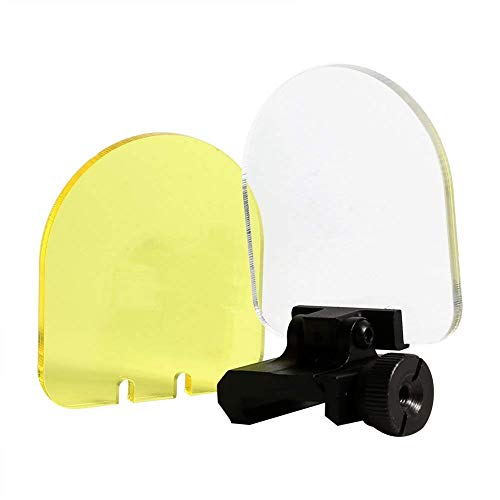 Persei Round/Square Foldable Sight Scope Lens Screen Protector Cover Shield Panel 20mm Rail Mount 4 Rifle Airsoft Scope Sight Hungting (Black-Round)