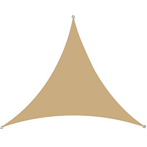i-Found 2 x 2 x 2 m toldo triángulo toldo toldo refugio pantalla de tela – UV resistente a los rayos UV – Patio exterior jardín cochera