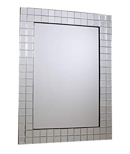 NIDDA Espejo veneciano de pared grande para dormitorio, espejos modernos de pared para pasillo, entrada y salón, 70 x 95 cm (ancho x largo)