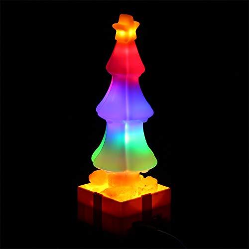 Lilideni Éclairage de Lampe de sel pour Arbre de Noël à LED, éclairage de Nuit changeant de Couleur, Cadeau de décoration pour Enfants, Amis, Famille