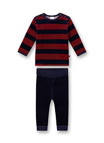 Sanetta Baby-Jungen Pyjama Zweiteiliger Schlafanzug, Rot (Karmesin 3101), 98 (Herstellergröße: 098)
