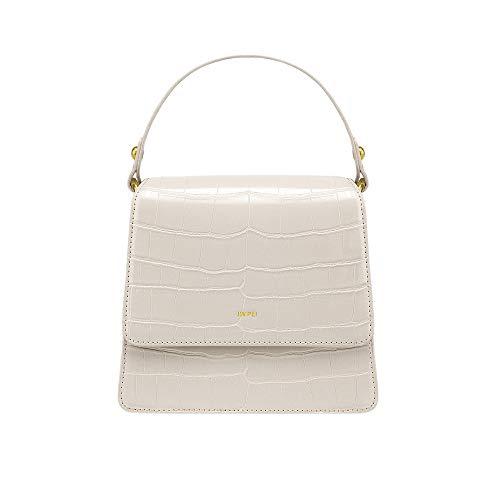 JW PEI Small Top-handle Handbags Crossbody Bag Women Vegan Leather Handbag Shoulder Bag (Beige)