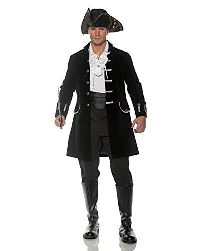 Schwarzer Samt Gehrock als Herrenkostüm für Halloween & Karneval XXL