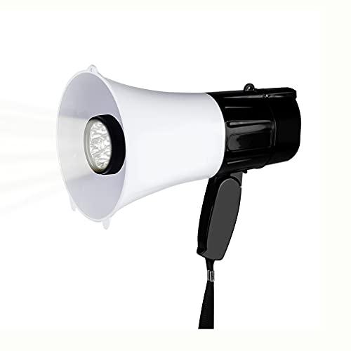 UOEIDOSB 30W Portátil Altavoz de Mano Megáfono Correa Grip Transpeaker Grabación Reproducir Cuerno Guía Tour Guía Altavoces Volumen Volumen