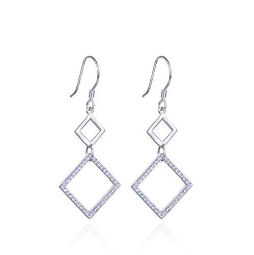 XIUXIANs925 - Pendientes de plata de ley y joyas creativas con pompón largo - LS012