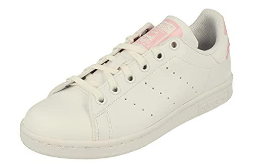 Adidas Originals Stan Smith Junior Trainers Sneakers (UK 6.5 US 7 EU 40, White White Pink EG7306)