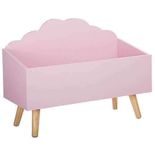 Cassapanca per giocattoli, a forma di nuvola, colore: rosa