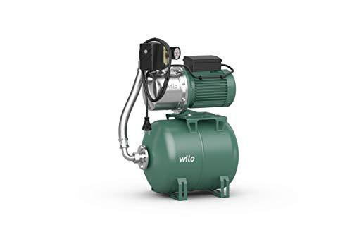 Wilo-Jet HWJ 20 L 202 Gartenpumpe mit 20L Membran-Druckbehälter, selbstansaugender Hauswasserautomat/Hauswasserwerk zur Wasserversorgung aus Brunnen, Zisternen, Regentonnen, 4500l/h, 3,6 bar, 550W