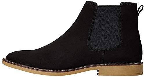 find. Marsh Herren Chelsea Boots Stiefel, Schwarz (Black/Gum), 45 EU