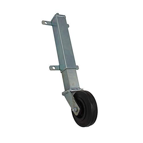 Tor-Stützrad Torstützrad Stützrolle Teleskop-Laufrolle Torlaufrolle verzinkt GU Plattenbefestigung