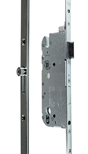 GU Secury Mehrfachverriegelung/Haustürschloss R4 mit Rollzapfen, Dornmaß 55mm, Entfernung: 92mm, Stulp: 20mm eckig, DIN Links/Rechts verwendbar (6-26463) incl. SN-TEC Montageanleitung