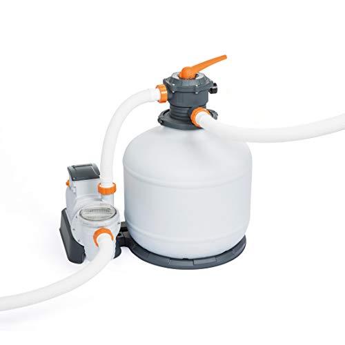 Bestway Flowclear, Sandfilteranlage mit Zeitschaltuhr 11.355 l/h für Gartenpools, inklusive ChemConnect Chemikaliendosierer
