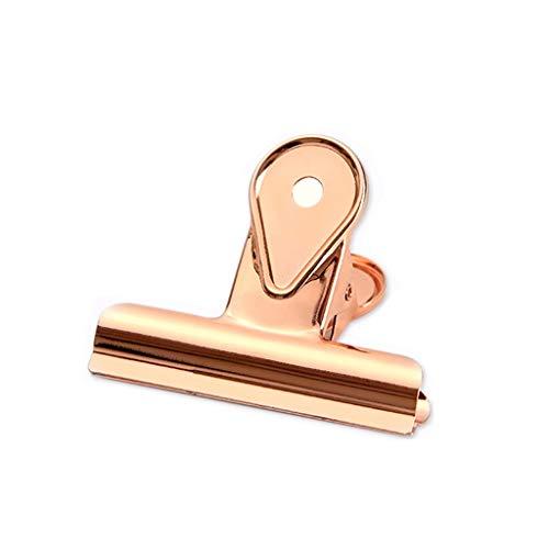 DYFYMX Origami Ordner Metallscharnier Clip, Büroklammer Bulldogklemmen/Rose Gold Portemonnaie Schreiben Ordner (Color : 20mm, Size : 20pcs)