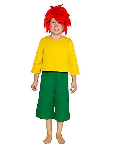 Maskworld Pumuckl Kostüm für Kinder - original lizenziert - zweiteilig - Karneval (122-128)