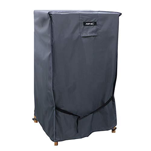 Awnic Funda protectora para sillas de jardín apilables, impermeable, poliéster 420D, tejido de rejilla, 68 x 68 x 110 cm