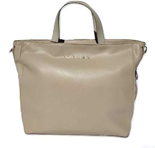 Sisley Tote Bag Beige Woman With Shoulder Strap 35x28x15 cm