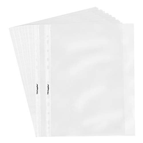 Tyh forniture Economy 11 hole Clear Sheet Protectors, 8 – 1/5,1 x 27,9 cm non vinile senza acidi 200 Clear