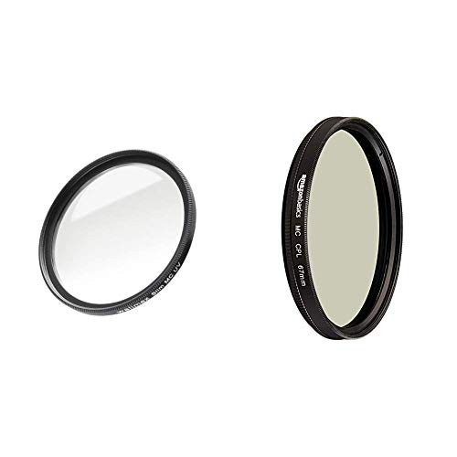 Walimex Pro UV-Filter Slim MC 67 mm (inkl. Schutzhülle) & Amazon Basics Zirkularer Polarisationsfilter - 67mm