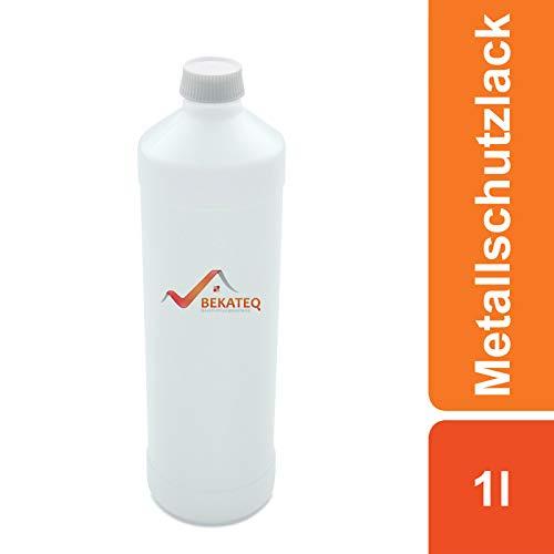 BEKATEQ BE-900 Metallschutzlack, 1l Farblos, Rostschutzfarbe für Tore, Metallzaun, Container Korrosionsschutz, Buntlack, Metallfarbe